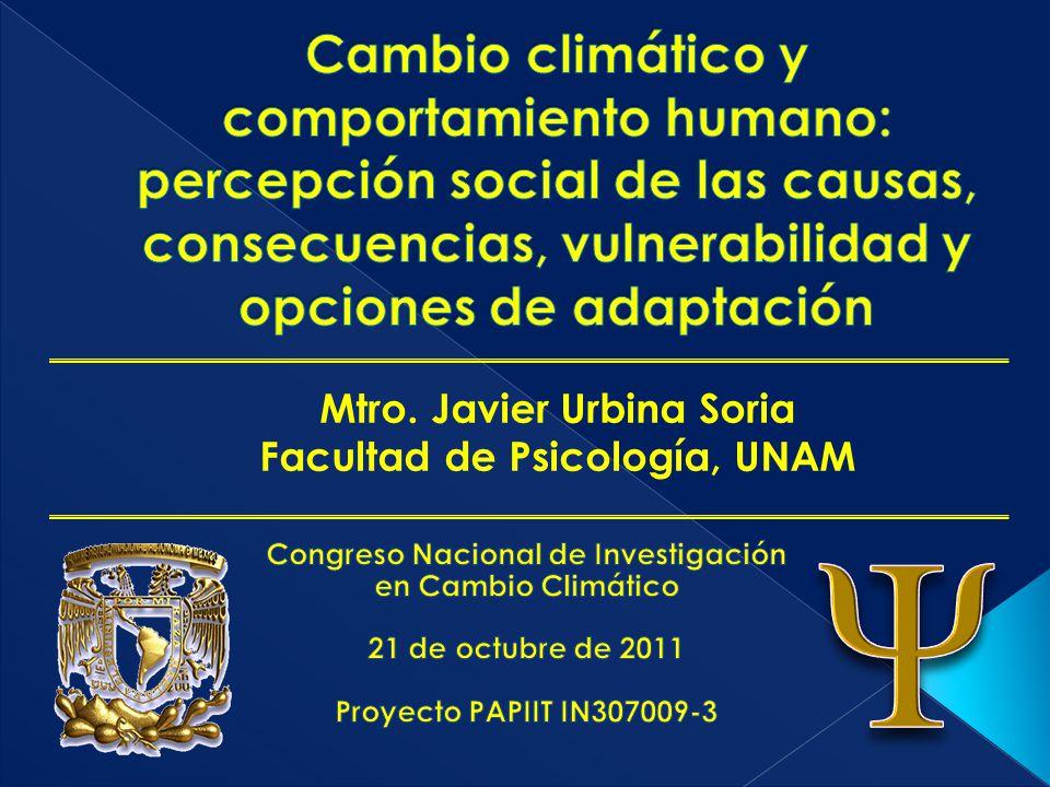 Cambio climático y comportamiento humano: percepción social de las causas, consecuencias, vulnerabilidad y opciones de adaptación