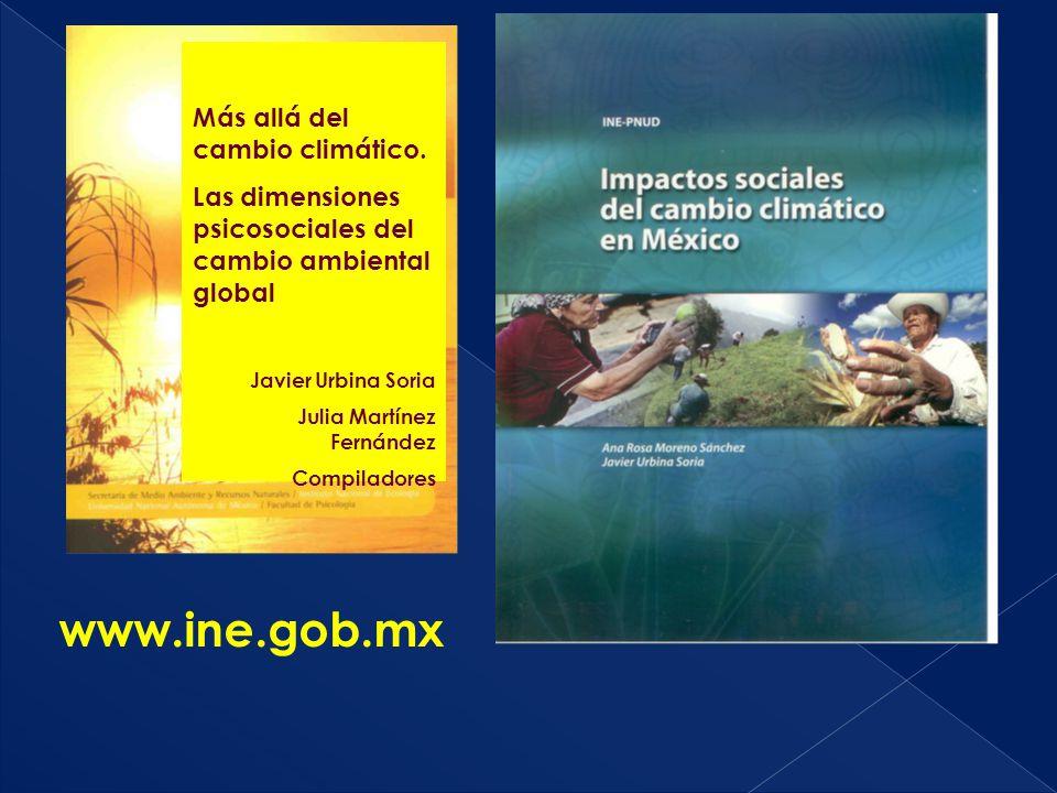 www.ine.gob.mx Más allá del cambio climático.