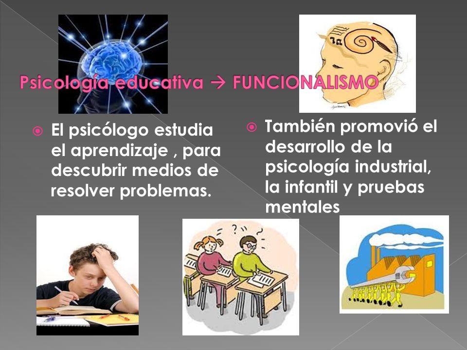 Psicología educativa  FUNCIONALISMO
