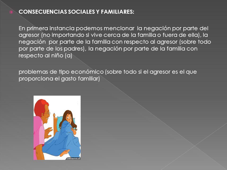 CONSECUENCIAS SOCIALES Y FAMILIARES: