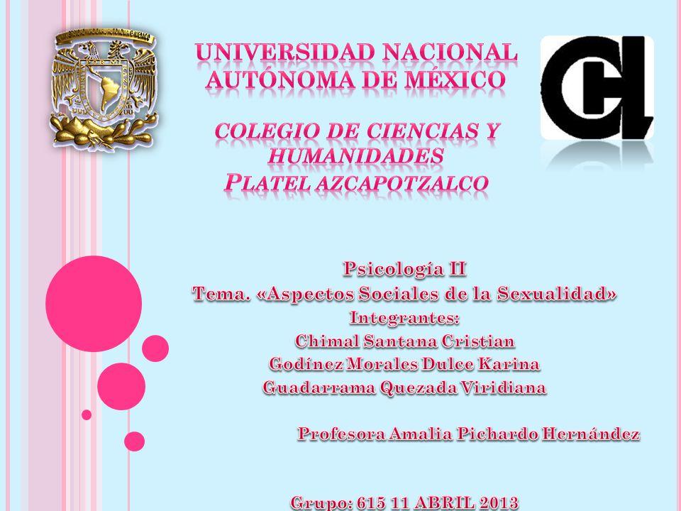 Universidad Nacional autónoma de México Colegio de Ciencias y Humanidades Platel Azcapotzalco