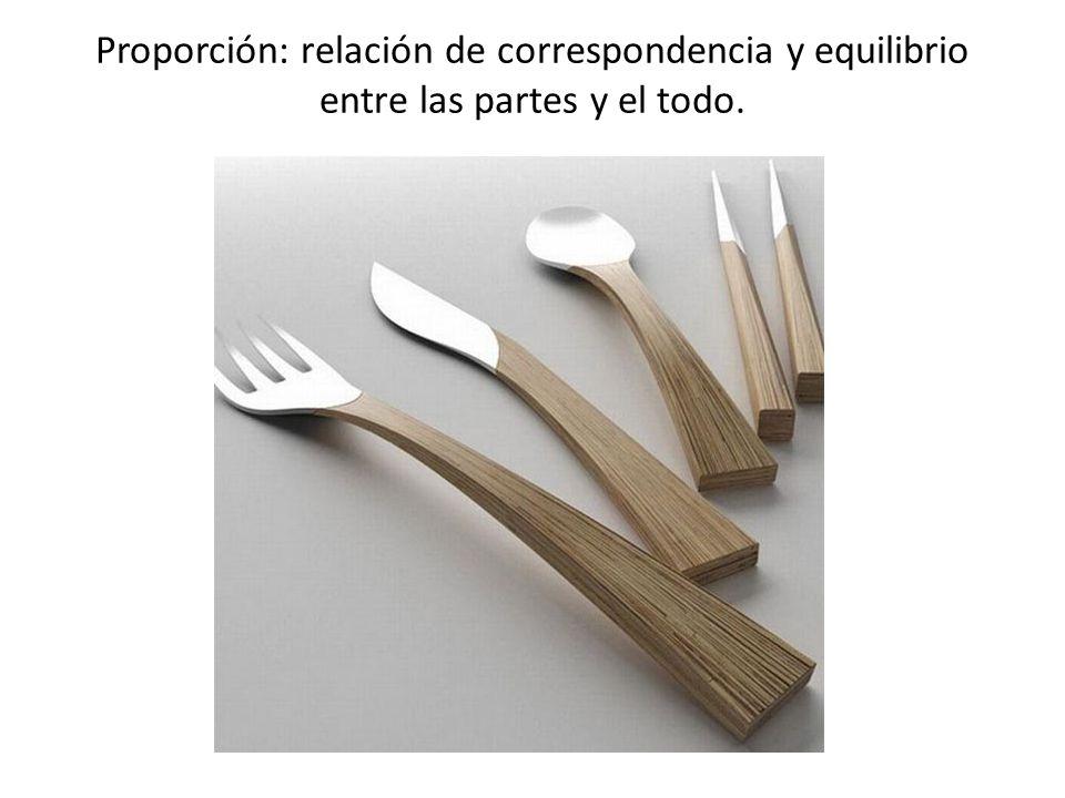 Proporción: relación de correspondencia y equilibrio entre las partes y el todo.