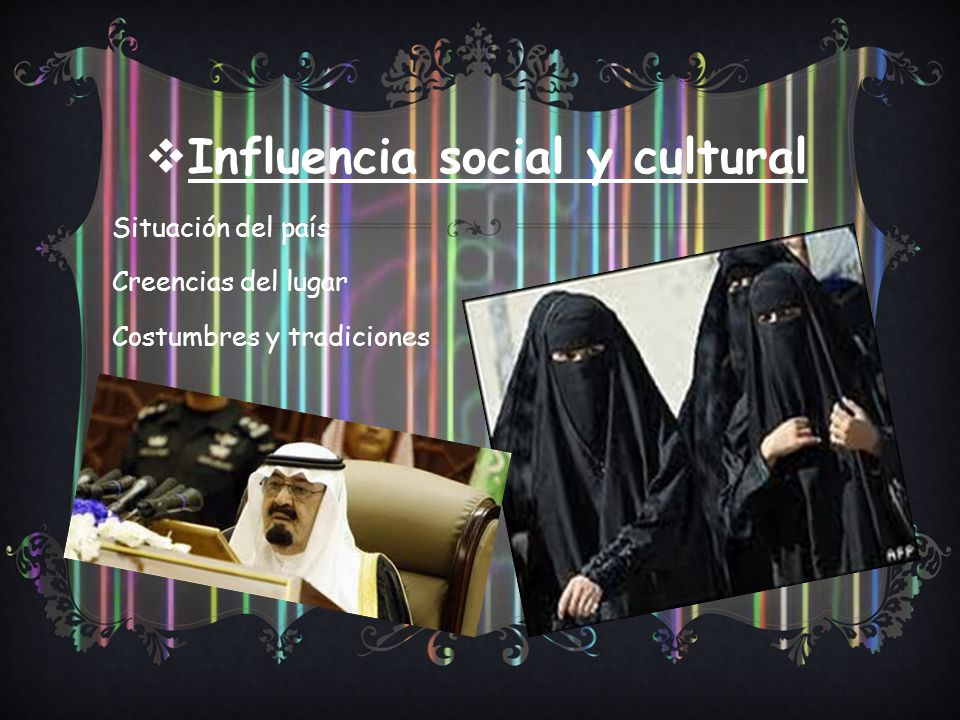 Influencia social y cultural