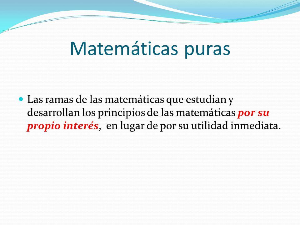 Matemáticas puras