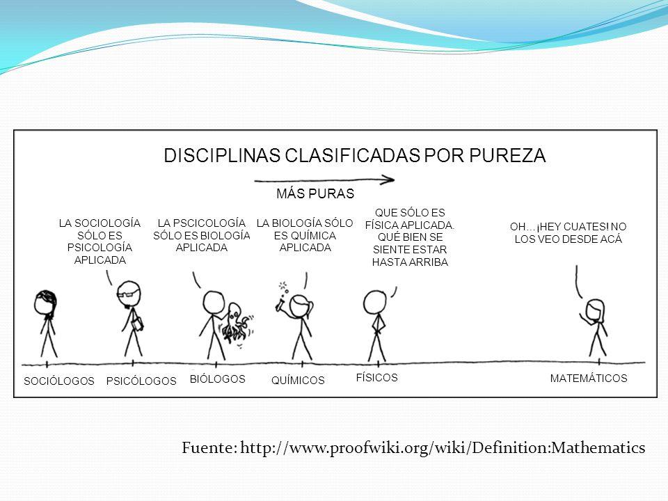 DISCIPLINAS CLASIFICADAS POR PUREZA