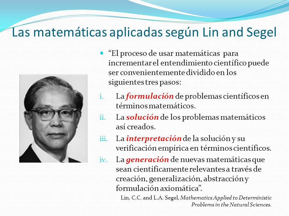 Las matemáticas aplicadas según Lin and Segel