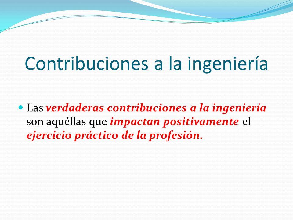 Contribuciones a la ingeniería