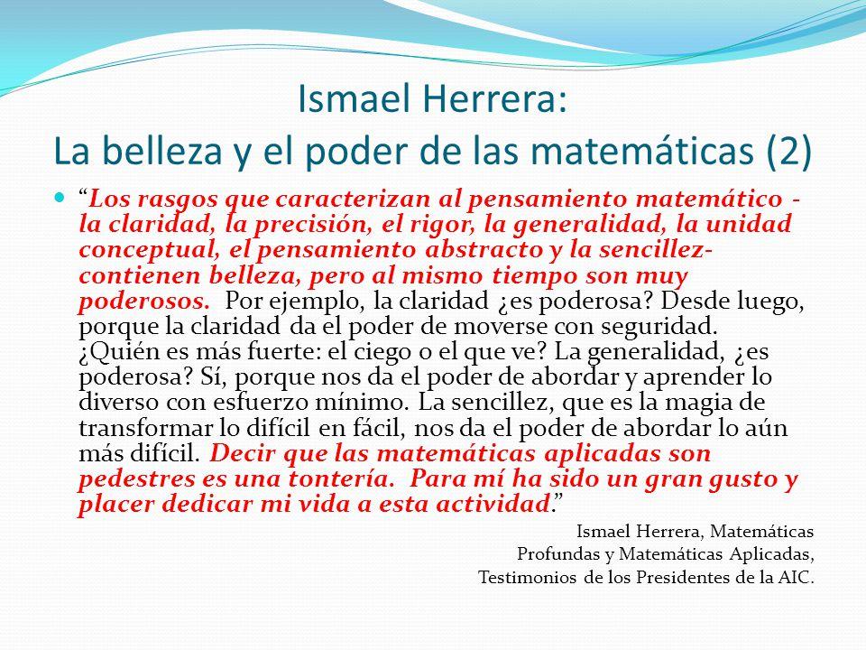 Ismael Herrera: La belleza y el poder de las matemáticas (2)