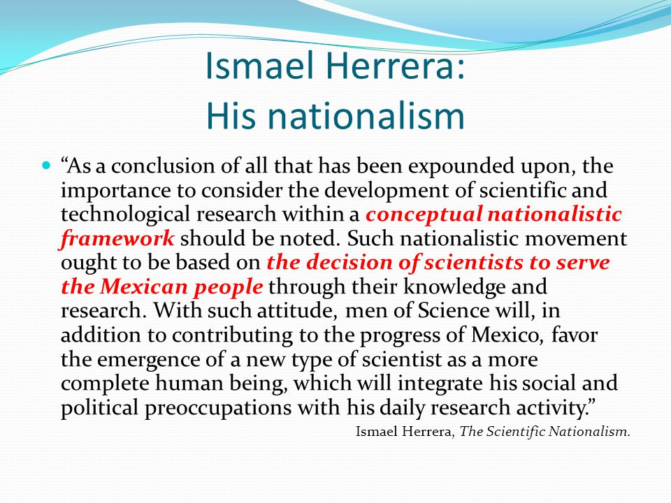 Ismael Herrera: His nationalism