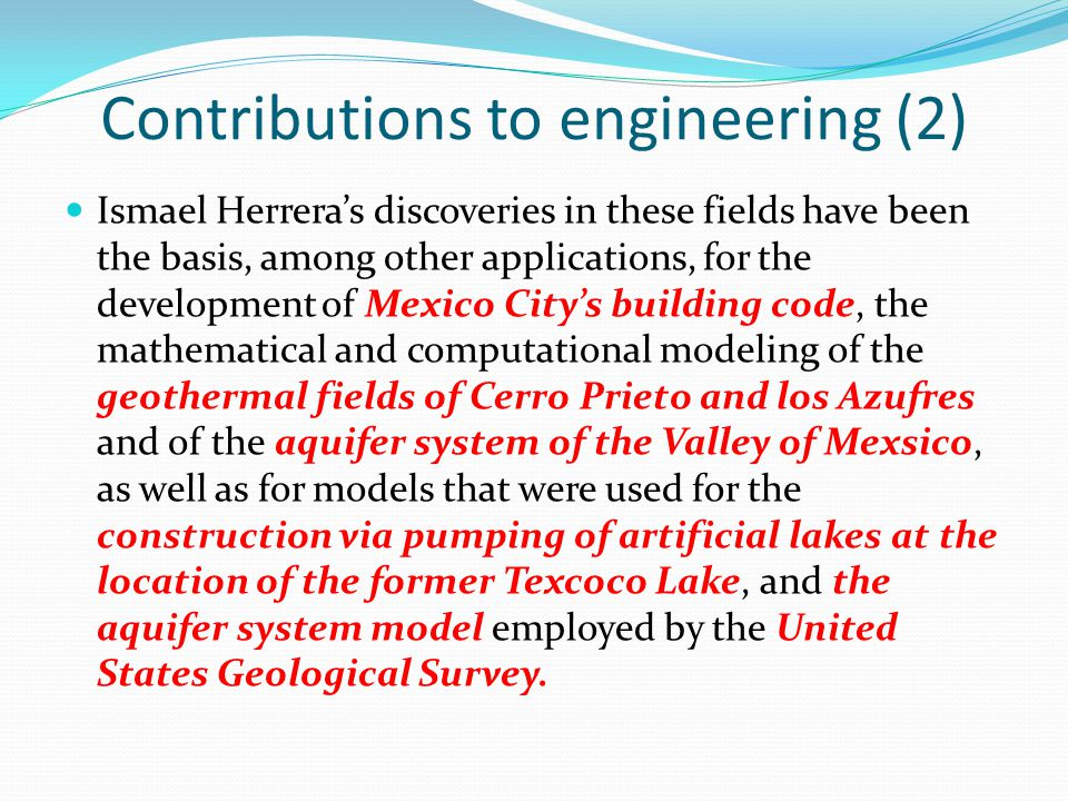 Contributions to engineering (2)