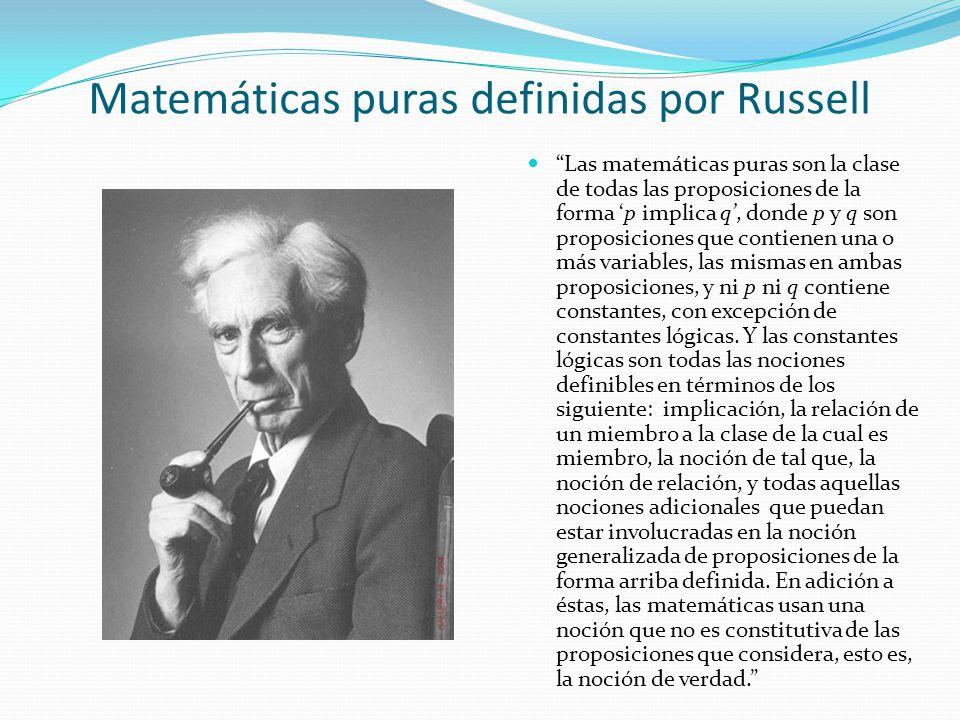 Matemáticas puras definidas por Russell