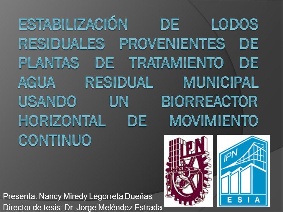 ESTABILIZACIÓN DE LODOS RESIDUALES PROVENIENTES DE PLANTAS DE TRATAMIENTO DE AGUA RESIDUAL MUNICIPAL USANDO UN BIORREACTOR HORIZONTAL DE MOVIMIENTO CONTINUO