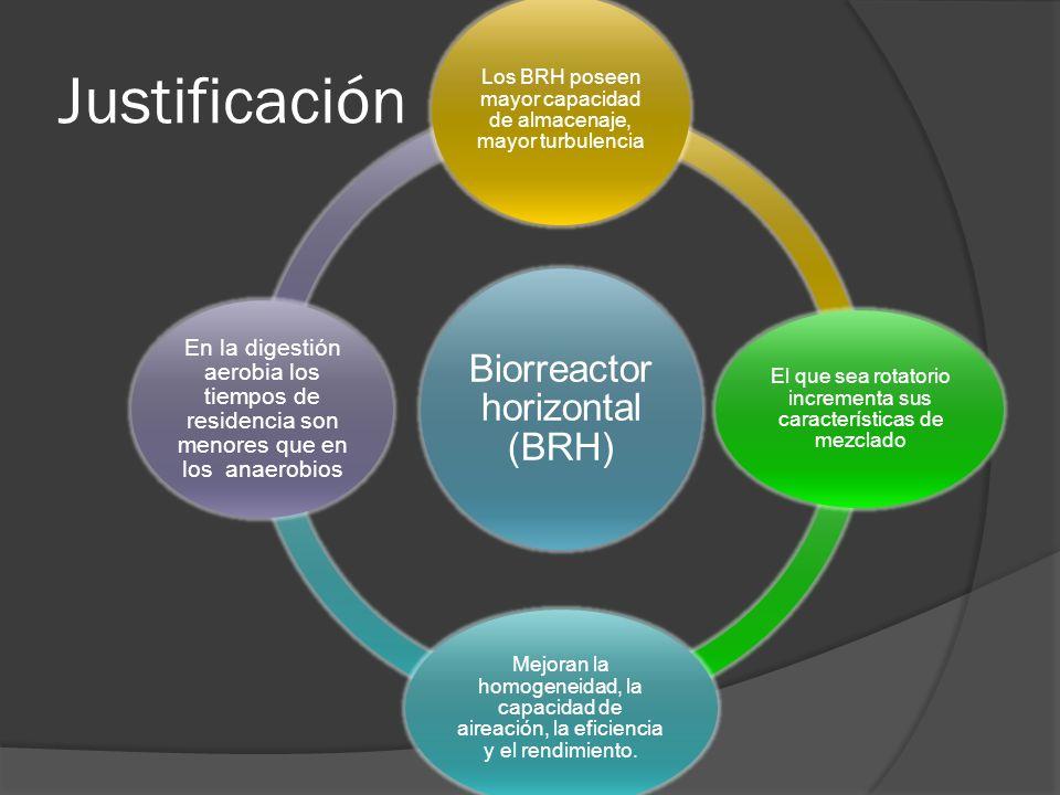 Justificación Biorreactor horizontal (BRH)