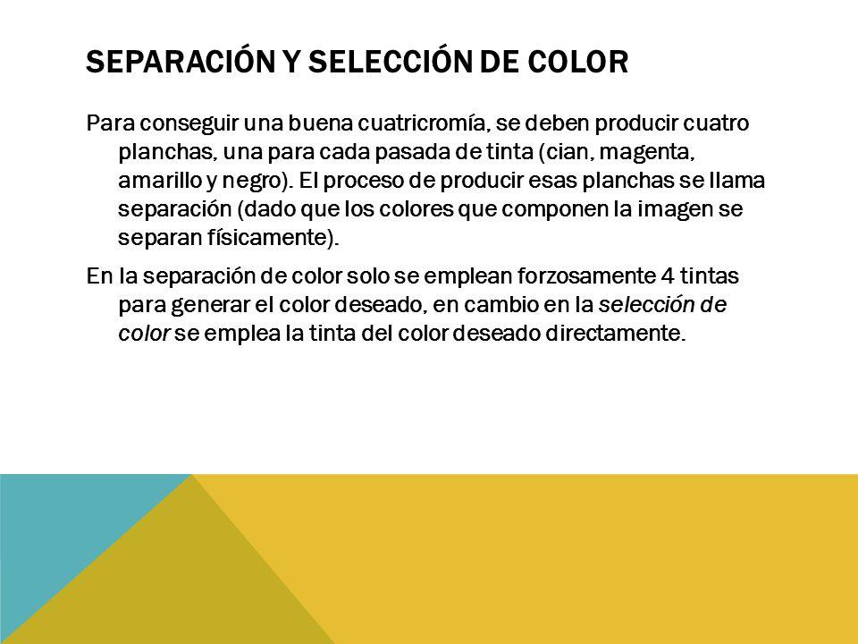 Separación Y SELECCIÓN de color