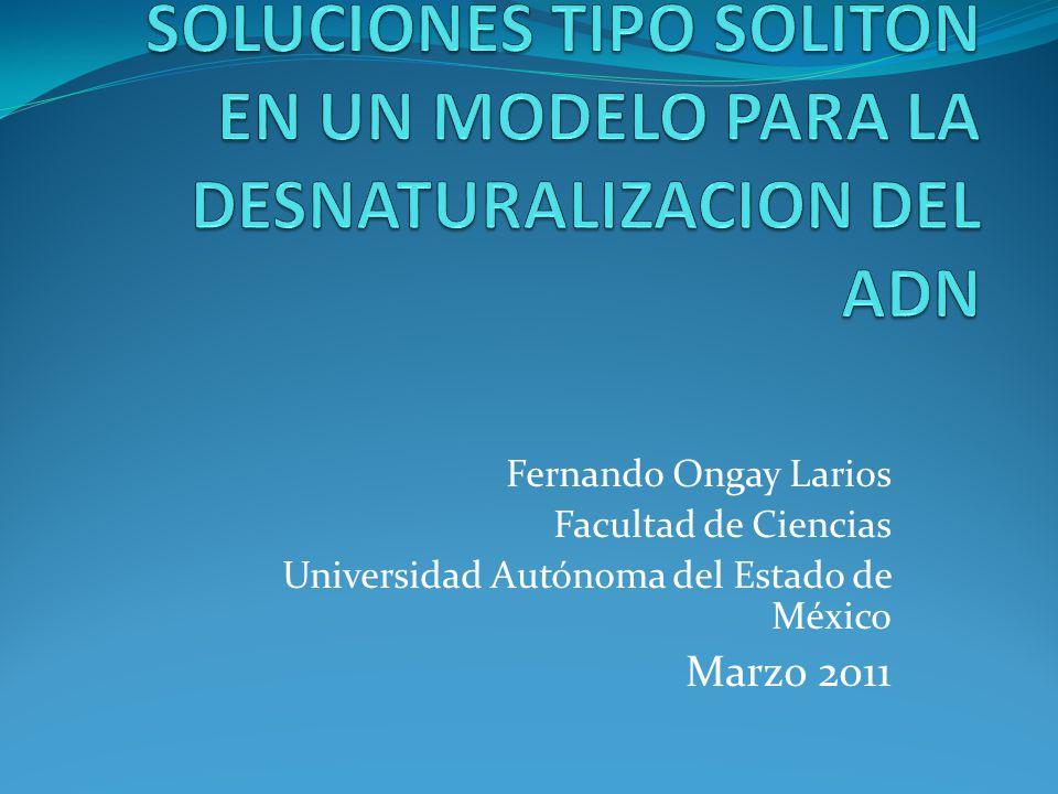 SOLUCIONES TIPO SOLITON EN UN MODELO PARA LA DESNATURALIZACION DEL ADN