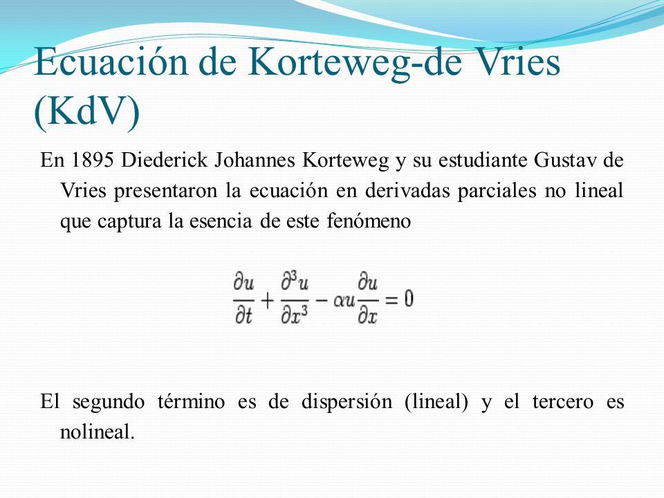 Ecuación de Korteweg-de Vries (KdV)