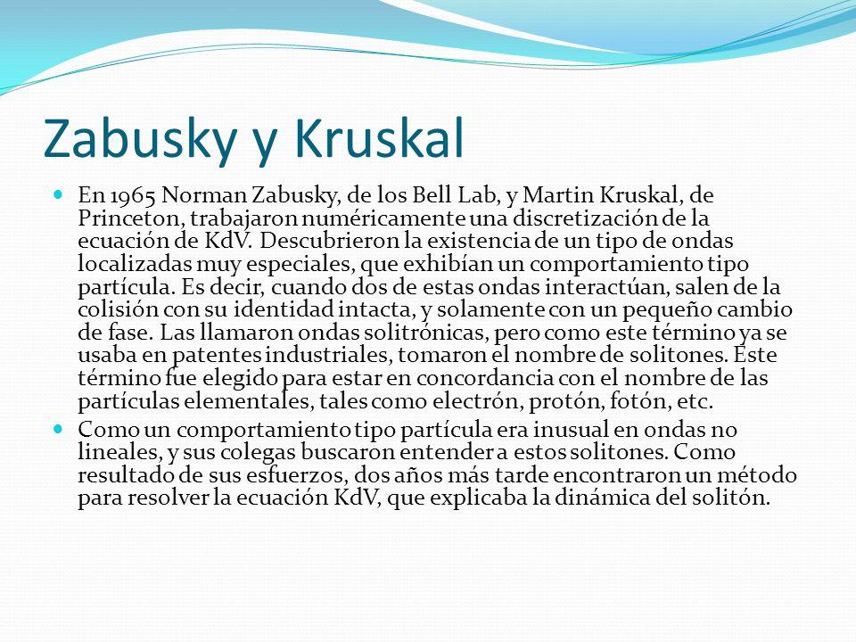 Zabusky y Kruskal