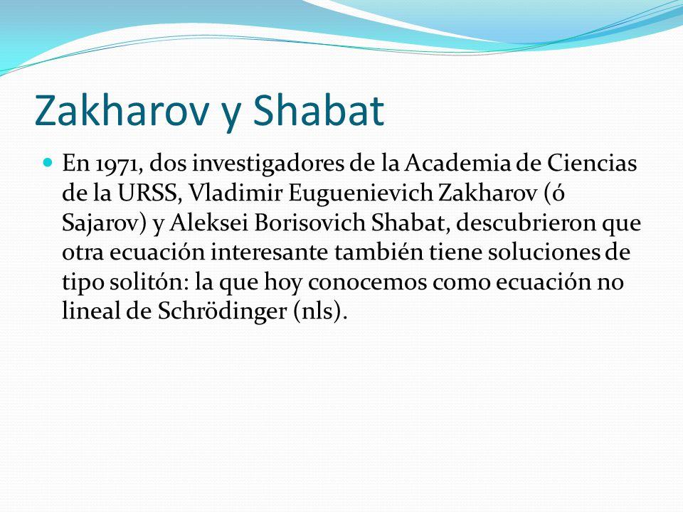 Zakharov y Shabat