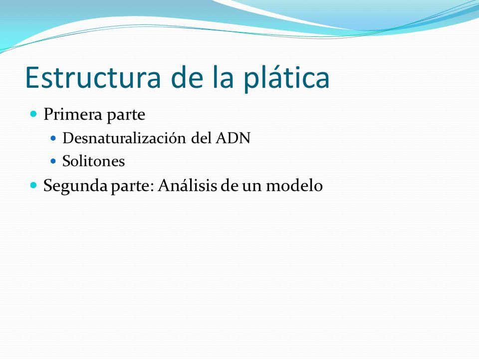 Estructura de la plática