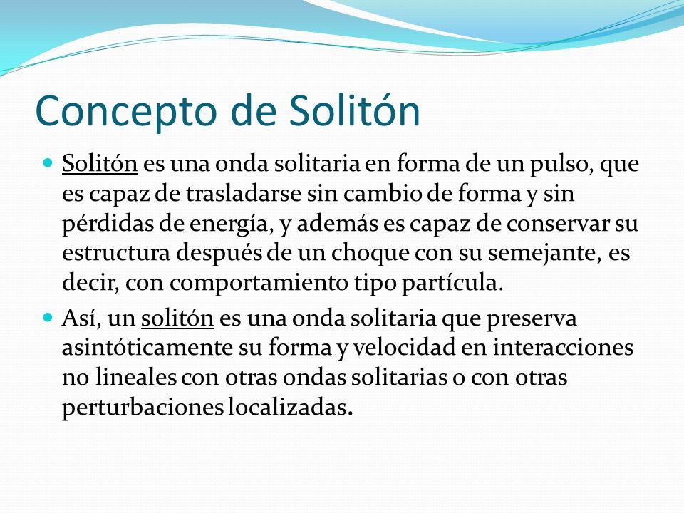 Concepto de Solitón