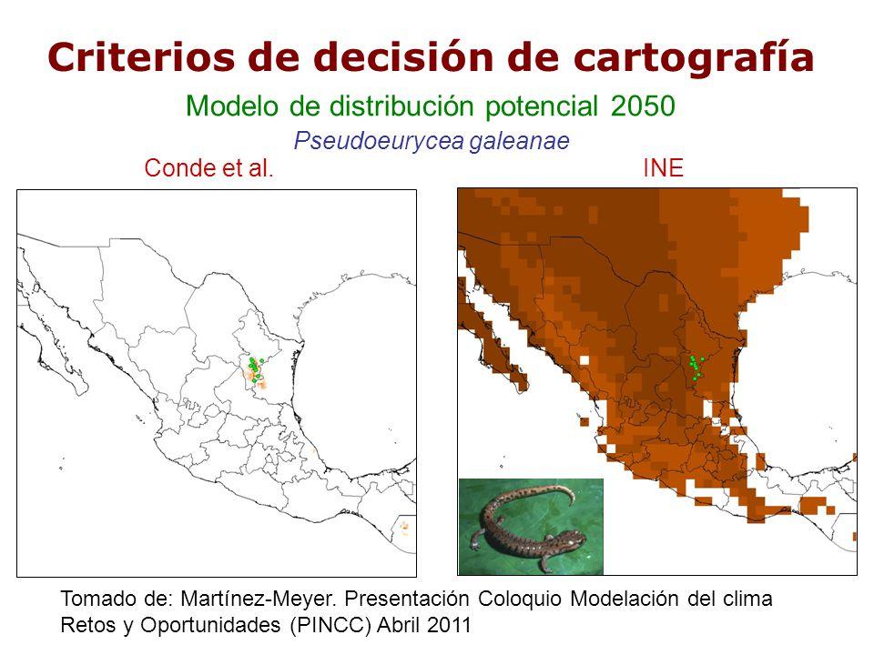 Criterios de decisión de cartografía
