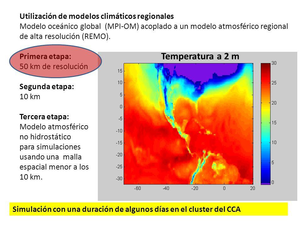 Temperatura a 2 m Utilización de modelos climáticos regionales