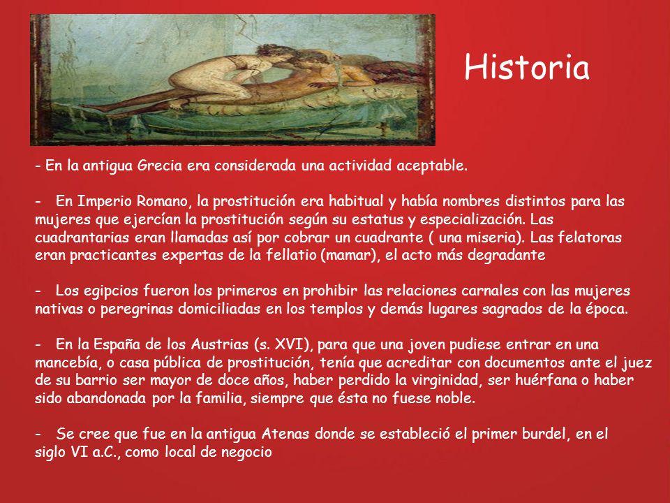 Historia - En la antigua Grecia era considerada una actividad aceptable.