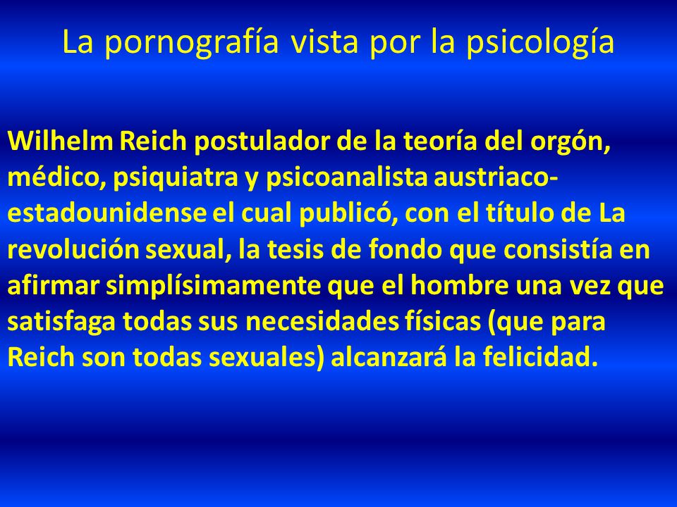 La pornografía vista por la psicología