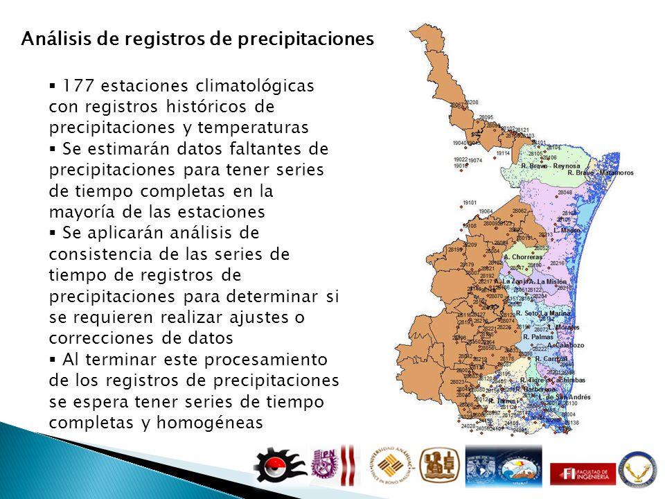 Análisis de registros de precipitaciones