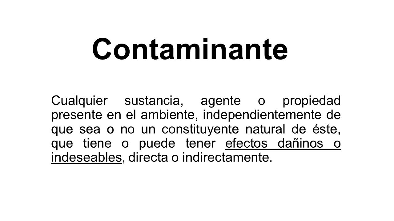 Contaminante