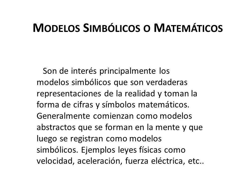 Modelos Simbólicos o Matemáticos