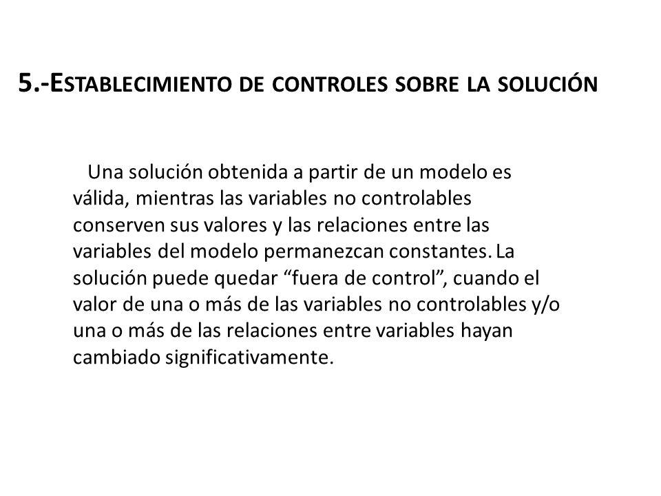 5.-Establecimiento de controles sobre la solución