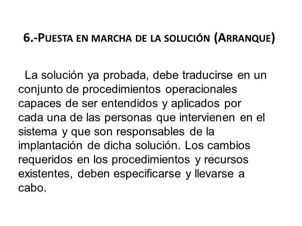 6.-Puesta en marcha de la solución (Arranque)