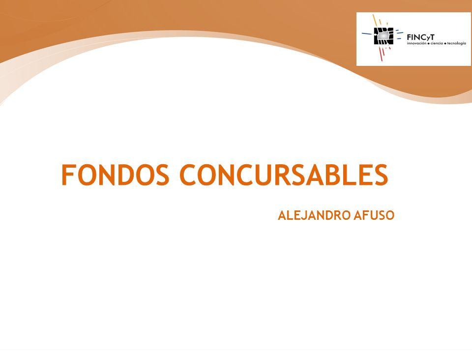 FONDOS CONCURSABLES ALEJANDRO AFUSO