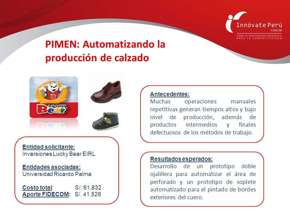 PIMEN: Automatizando la producción de calzado