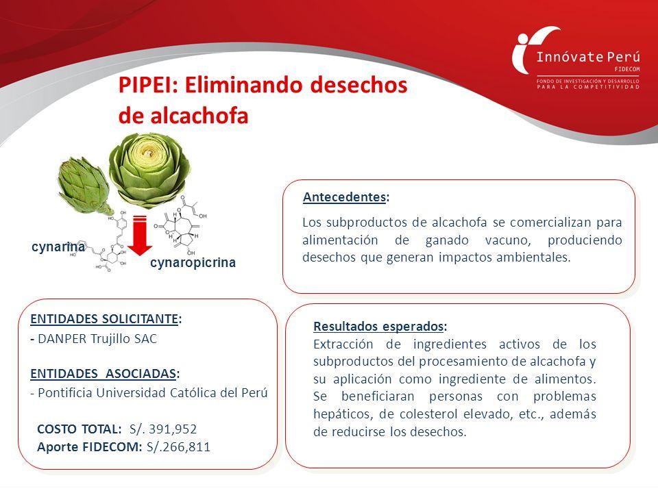 PIPEI: Eliminando desechos de alcachofa