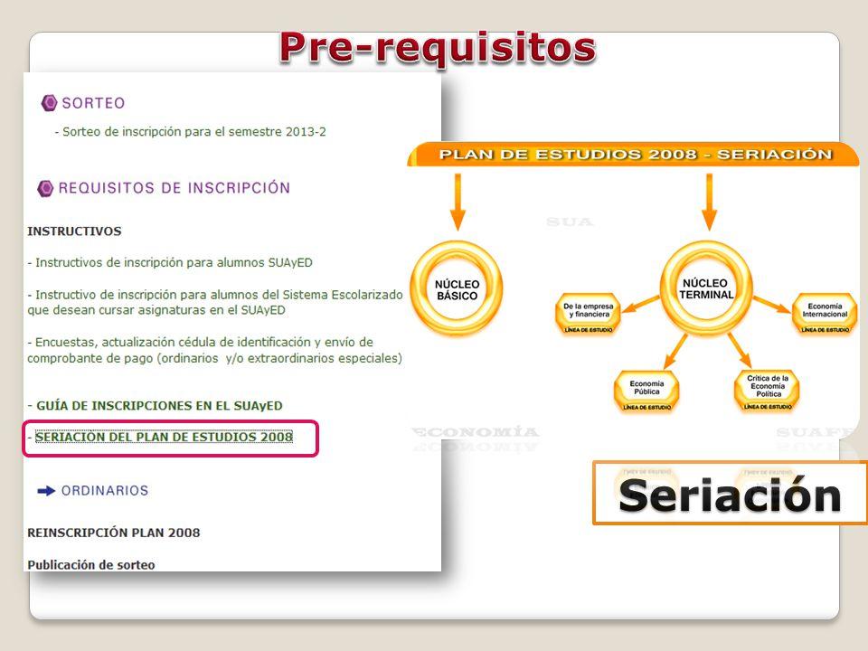 Pre-requisitos Seriación