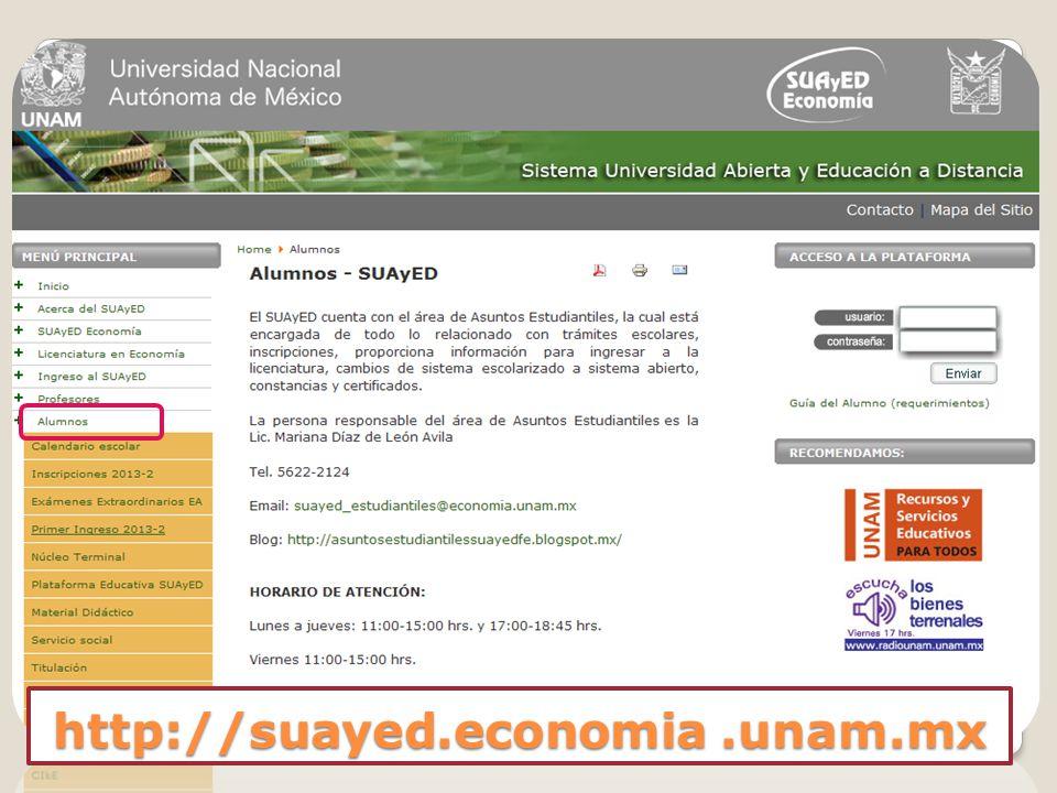 http://suayed.economia .unam.mx