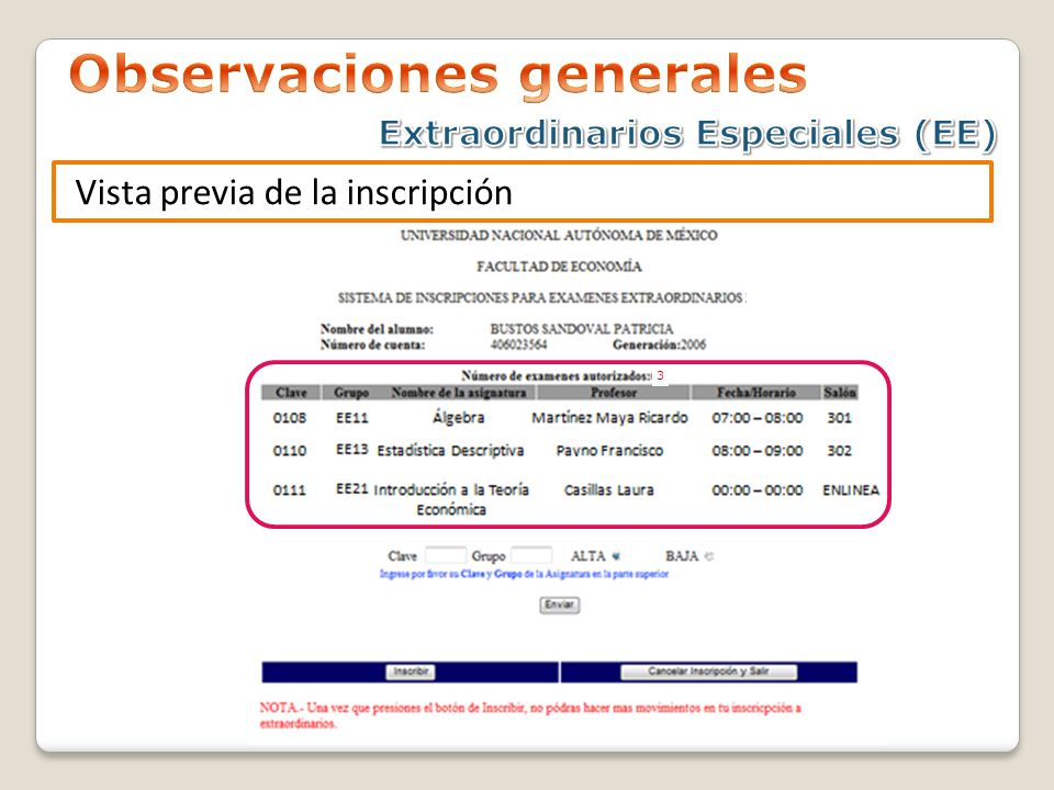 Observaciones generales