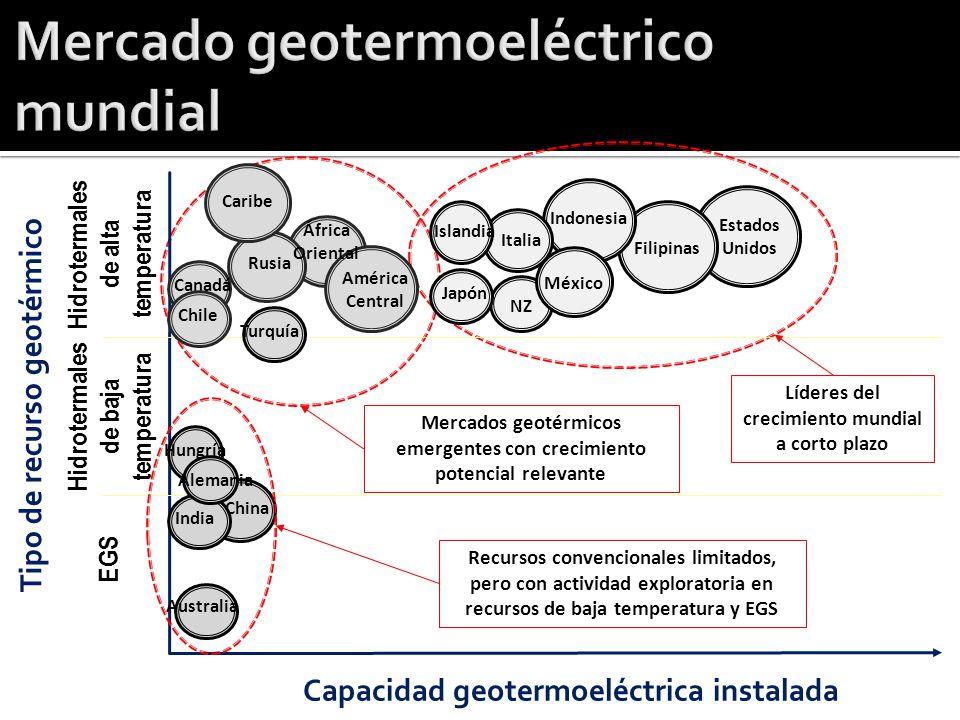 Mercado geotermoeléctrico mundial