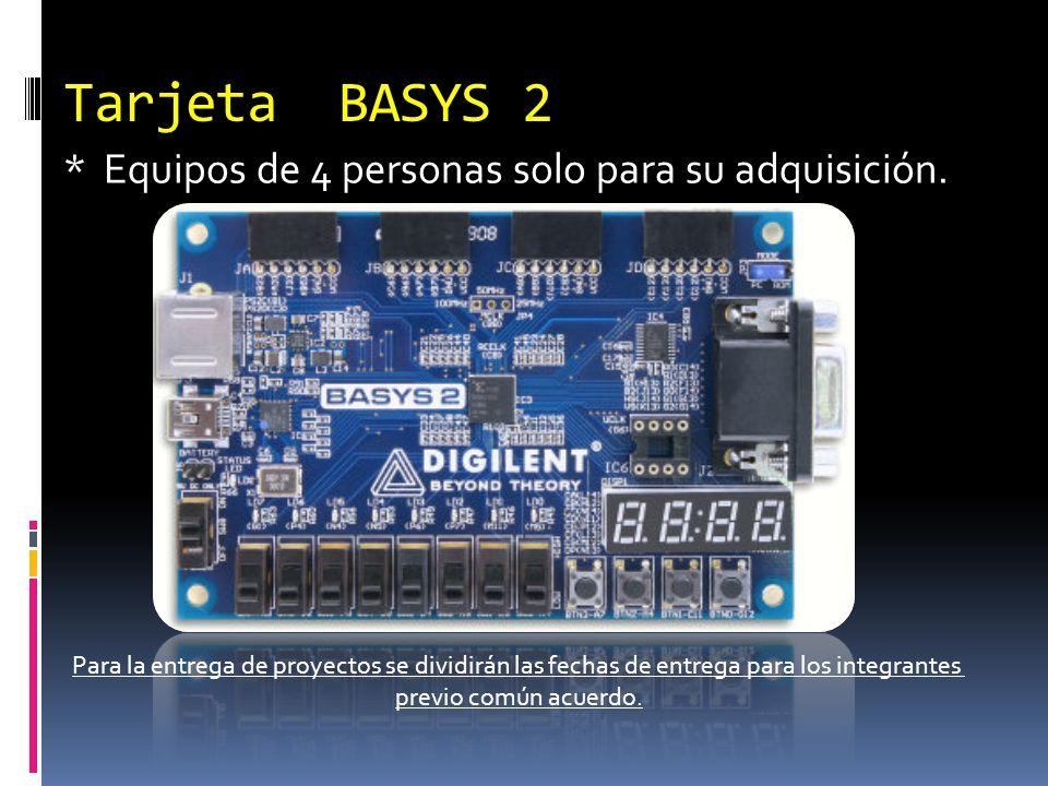 Tarjeta BASYS 2 * Equipos de 4 personas solo para su adquisición.