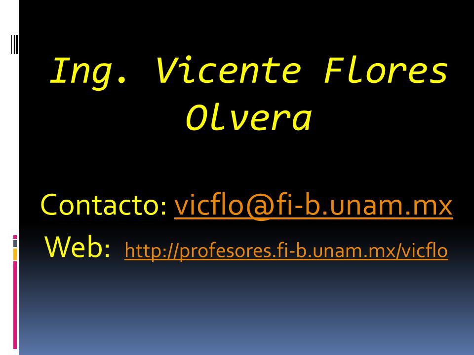 Ing. Vicente Flores Olvera