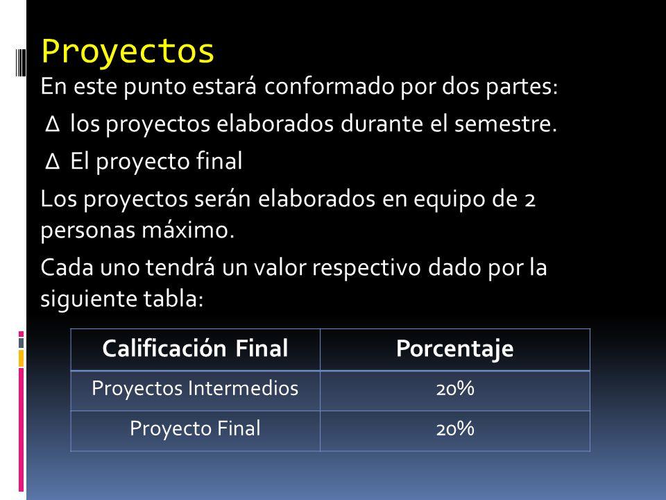 Proyectos Intermedios