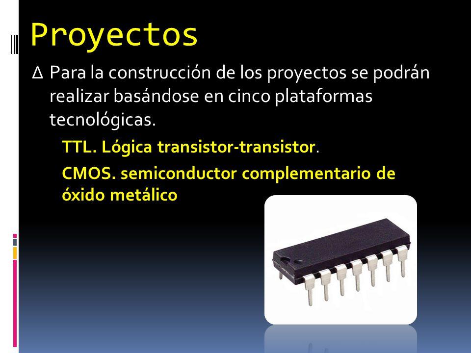 Proyectos Para la construcción de los proyectos se podrán realizar basándose en cinco plataformas tecnológicas.