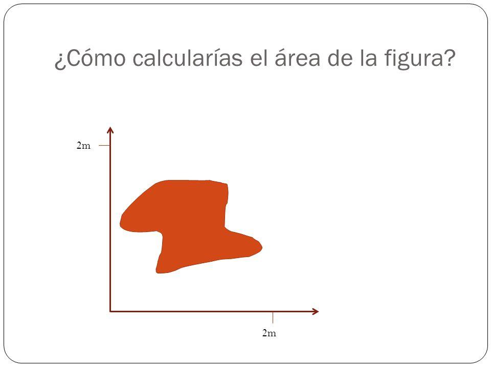 ¿Cómo calcularías el área de la figura