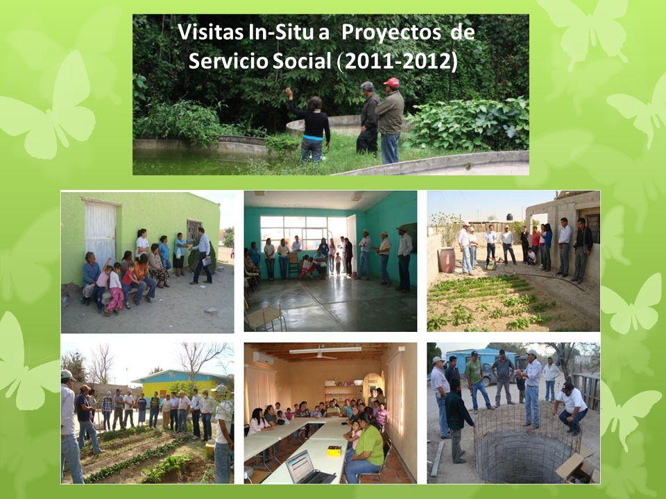 Visitas In-Situ a Proyectos de Servicio Social (2011-2012)