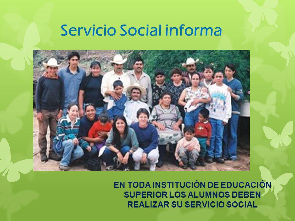 Servicio Social informa