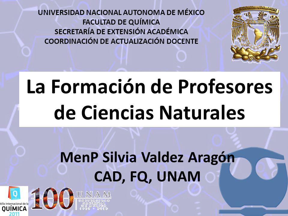 La Formación de Profesores de Ciencias Naturales