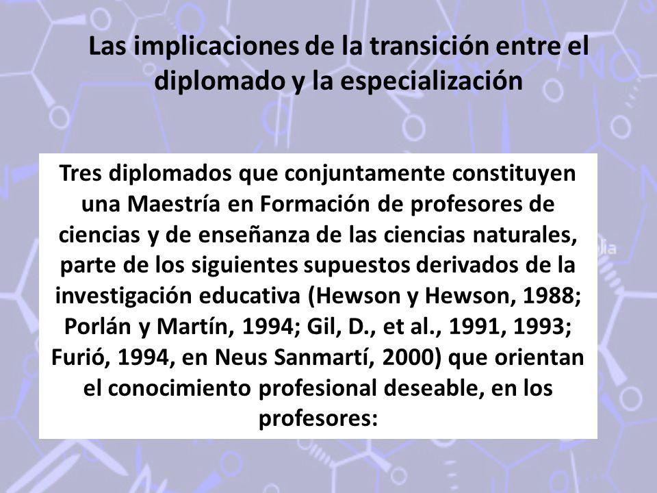 Las implicaciones de la transición entre el diplomado y la especialización