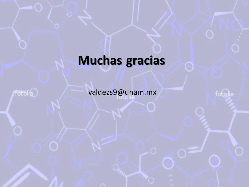Muchas gracias valdezs9@unam.mx
